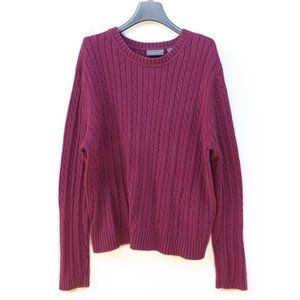 Croft and barrow knit cotton sweater • large